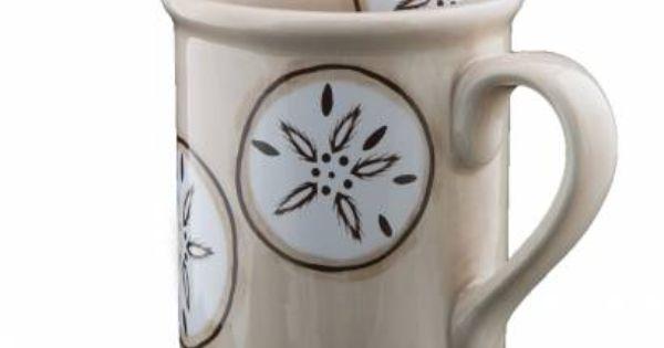 Sand Dollar Mug From Shard Pottery Of Maine 12 Painted Coffee Mugs Pottery Cafe Mugs