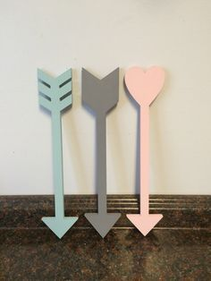 These Handmade Wooden Arrows Would Look Adorable In Any Arrow Adventure Or Woodland Themed Nursery Or Roo Arrow Nursery Woodland Nursery Girl Arrow Wall Decor