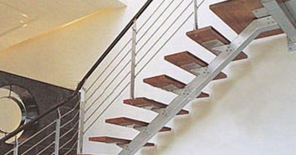 Anclaje escalera en l con zanca central estructura for Escalera en l