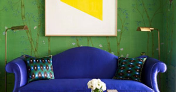 Now trending in home decor: bold colors...