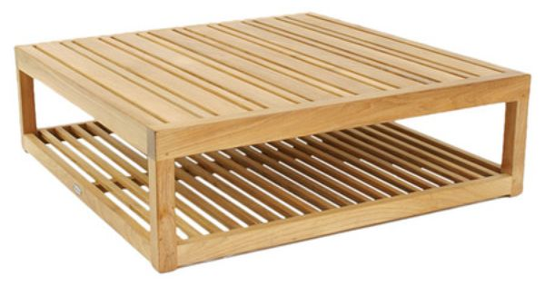Slatted Teak Indoor Outdoor Coffee Table Eco Friendly Product Coffee Tableconstruction