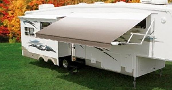 Carefree Co For Patio Awnings For Coaches W Straight Side Electric 8 Foot Extension Black Adjustable Pitch Patio Awning Tent Awning Awning