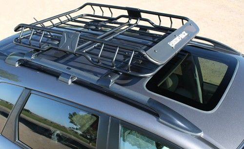 Rhino Rack Roof Mounted Steel Cargo Basket 47 Long X 35 Wide 165 Lbs Rhino Rack Roof Basket Rm Roof Basket Subaru Outback Ford Expedition