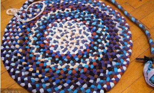 Costuras para alfombras de trenzas de 3 con formas el - Alfombras de trapillo ...