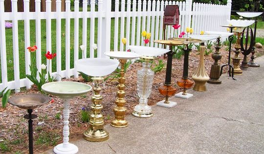 DIY Garden Fencing Ideas | Bird baths and bird feeders made from
