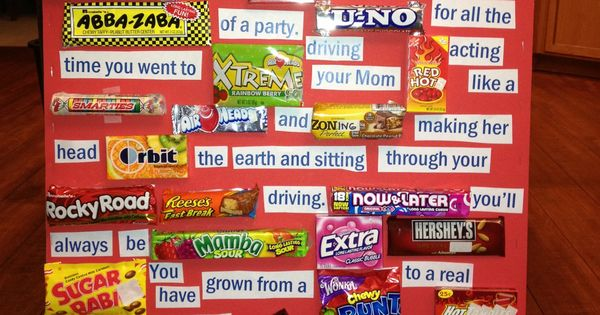 Candy gram hayden s 16th birthday candy grams pinterest candy