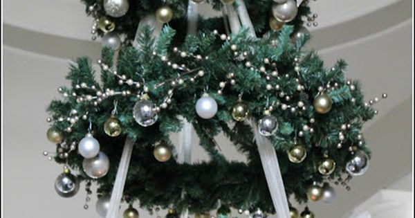 Make them wonder hanging tiered wreath tree How to hang garland on a christmas tree
