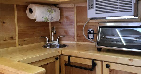 Sprinter Camper Van >> Our DIY 6X10 cargo trailer conversion kitchen. | Cargo ...