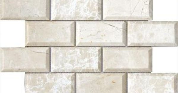 Ms International Paradise Beige 12 In X 12 In X 10 Mm Polished Beveled Marble Mesh Mounted Mosaic Tile Pbeige 2x4pb In 2020 Beige Backsplash Wall Tiles Backsplash