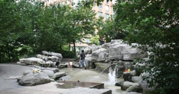 Teardrop Park Nature In The City Natural Playground Landscape Rock Splash Park