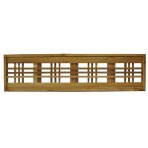 Horizontal Pattern 45 75 In X 12 In Lattice Cedar Framed 2 Pieces 45 75 Horizontal At The Home De Lattice Fence Panels Lattice Fence Fence With Lattice Top