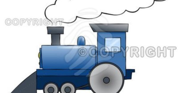 Cartoon Train Blue Cartoon Train