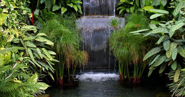 Garden waterfall jard n de memo pinterest estanques for Fuentes y cascadas para jardin