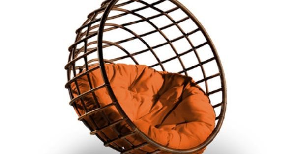 Urban Balance Sphere Hanging Chair Tangerine by Outback Company