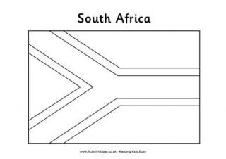 South Africa Colouring Pages South Africa Flag South African