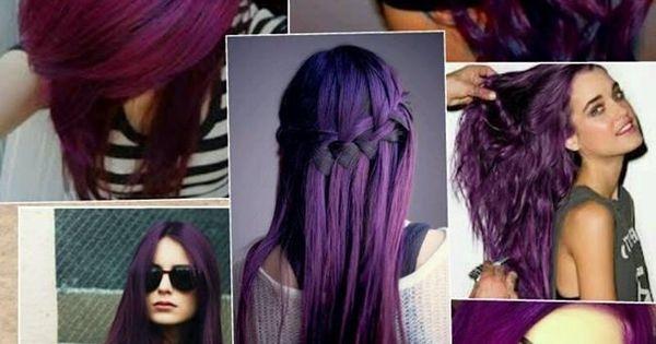 Purple hair styles.