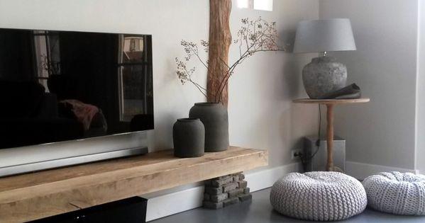 Cement gebonden gietvloer potten ptmd lamp brynzx woonkamer vanmij a r c h i t e c t u r e - Deco etagere woonkamer ...