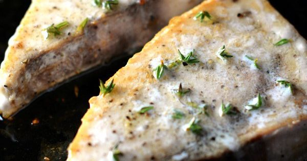 Pan-Roasted Swordfish Steaks With Mixed-Peppercorn Butter Recipe ...