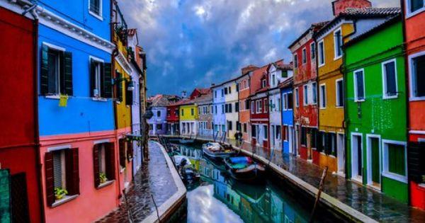 Burano Italia Lugares Exoticos Pinterest