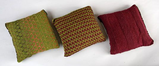 how to knit throw pillows-