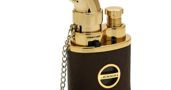 Leather wrapped cigarette cigar torch butane lighter cigar and pipe