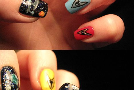 #star_trek nails THE MOST POPULAR NAILS AND POLISH nails polish Manicure stylish