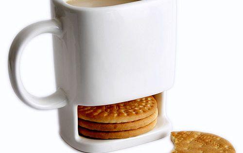 What a great idea - Coffee Break Mug - cookies & coffee?