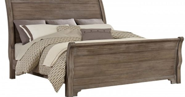 Vaughan Bassett 814 663 Whiskey Barrel Sleigh Bed King Discount Furniture At Hickory Park Furniture Galleries Furniture King Sleigh Bed Wood Platform Bed
