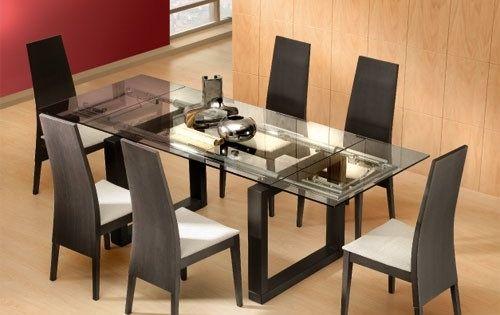 Comedores modernos en vidrio1 decomadera pinterest mesas - Merkamueble comedores ...