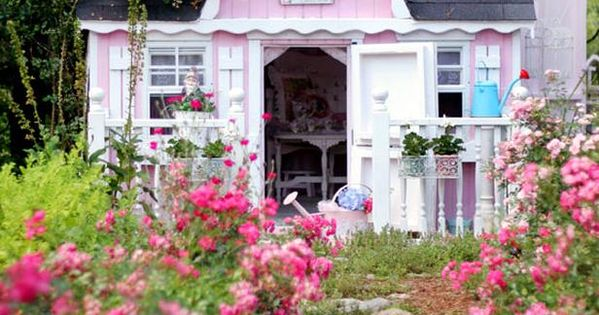 Tiny Pink House - would be an idyllic play house or a