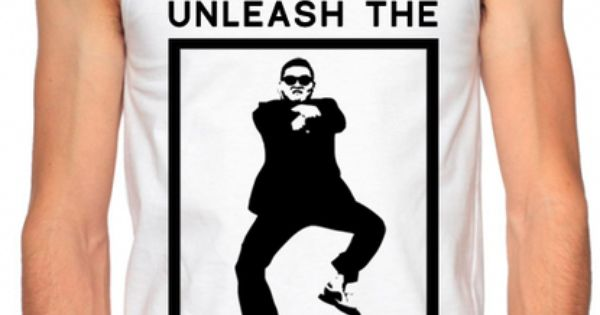 Gangnam Style Shirts - Unleash the Gangnam - Mens Neon Tanks and