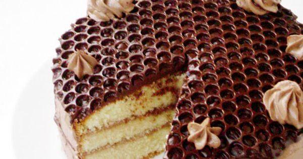 Honeycomb Technique Decoration Cake