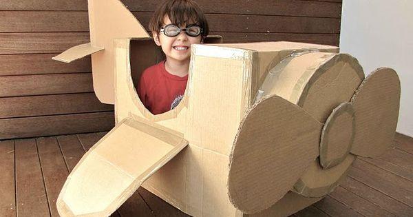 Cardboard box craft ideas.