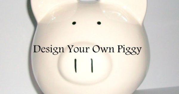 design your own hand painted piggy jumbo ceramic bank for