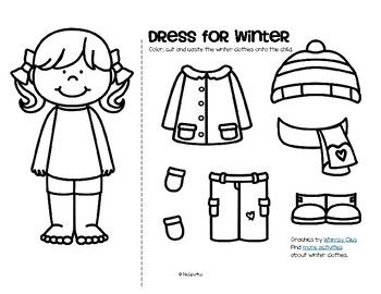 Winter Clothes Dress Boy And Girl Free Preschool Winter Worksheets Winter Activities Preschool Clothes Worksheet
