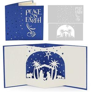 Silhouette Design Store 3d Card Nativity Scene Scene Cards Silhouette Cards Cards