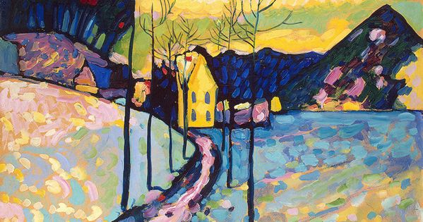 """Winter landscape I,Kochel,Bavaria"" 1909 Wassily Kandinsky .The State Hermitage Museum, St.Petersburg, Russia"