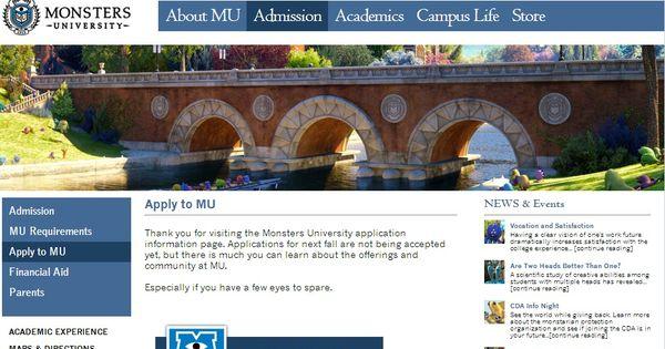Monsters Inc Store Monsters University Homepage Monster University University Monsters Inc