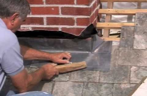 Fitting Chimney Flashing Front Apron Home Repair