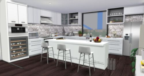 Modern Kitchen By Aymiassims For The Sims 4 Spring4sims Sims 4 Kitchen Cabinets Sims 4 Kitchen Modern Kitchen