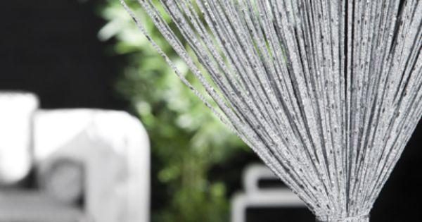 Design glitzer fadenvorhang waterfall raumteiler sichtschutz bei riess ambiente accessoires Riess ambiente sofa
