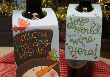 FREE printable wine bottle gift tags gift holiday
