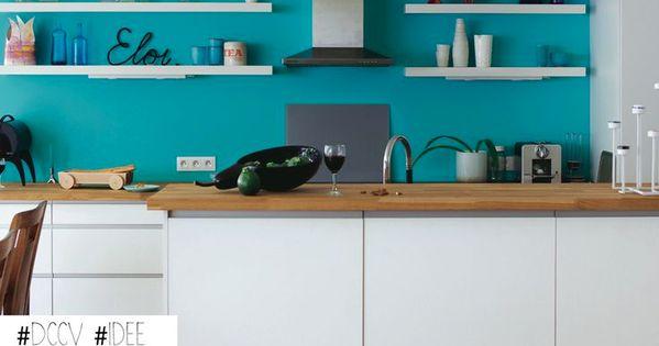 Cuisine Mur Bleu Turquoise : ... mur du fond en turquoise #cuisine # ...