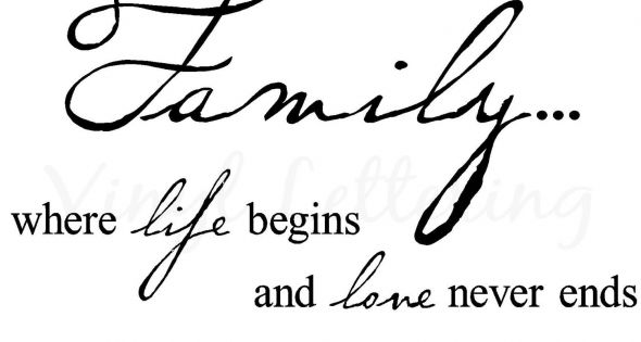 "Amazon.com: Family where life begins and love never ends 12.5"" h x"