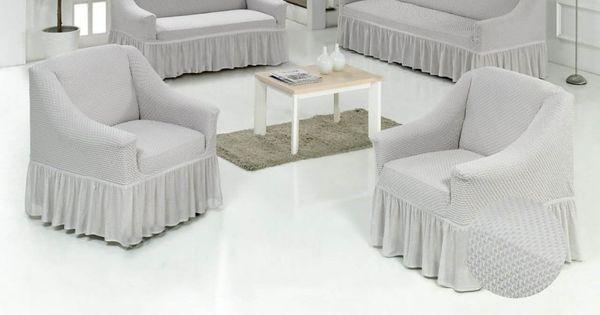 طقم أغطية كنب تركي رصاصي فاتح عدد القطع 4 Furniture Outdoor Furniture Sets Sofa Covers