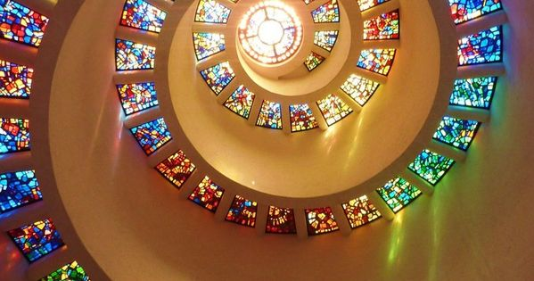 Chapel of Thanksgiving, dallas - The entrance to the chapel is at