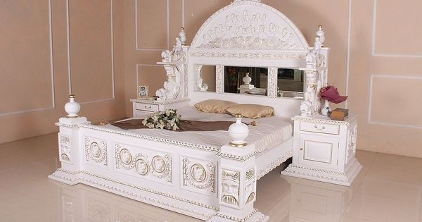 barock bett antik louis xv wei gothicbett k nigsbett barockbett prunkbett neu wohnideen. Black Bedroom Furniture Sets. Home Design Ideas