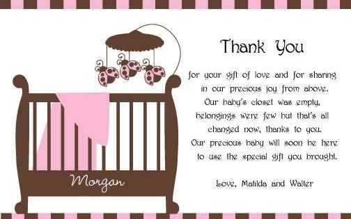 baby shower thank you card wording - Google Search | THE BABY ...