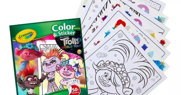 Crayola Trolls 2 World Tour 32pg Color Sticker Activity Book Coloring Stickers Sticker Book Coloring Book Set
