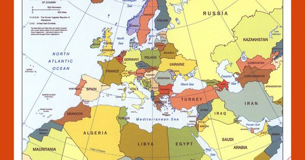 Political Map Of Europe North Africa And The Middle East 2000 Other Maps Of Europe Maps Of Europe Gif Map Maps Of The World In Gif Format Maps Of T